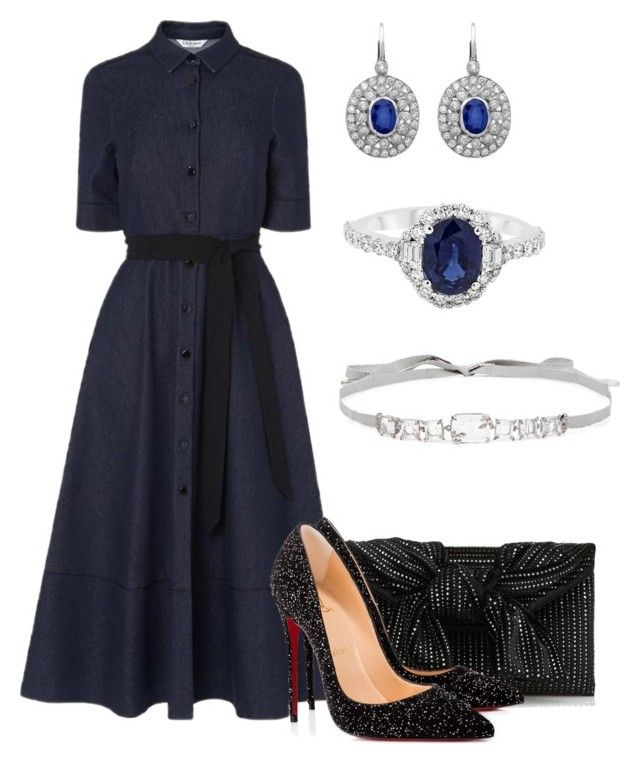 """""""Без названия #3650"""" by claire-hamilton-bristol ❤ liked on Polyvore featuring Christian Louboutin and Jenny Packham"""