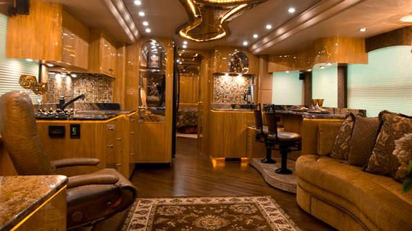 Lightweight Travel Trailers >> RV Pictures Inside luxury | Millennium Luxury Coach, Yes ...