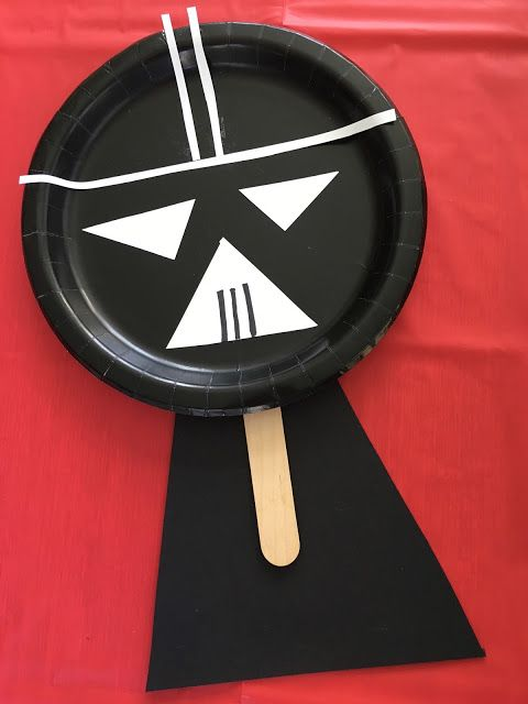 Paper Plate Darth Vader Puppet Craft || The Chirping Moms.  Star Wars Craft for Kids.  Star Wars Fun for Kids.