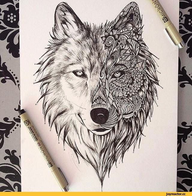 i love it but would like to personalize the other face of the wolf with my own design