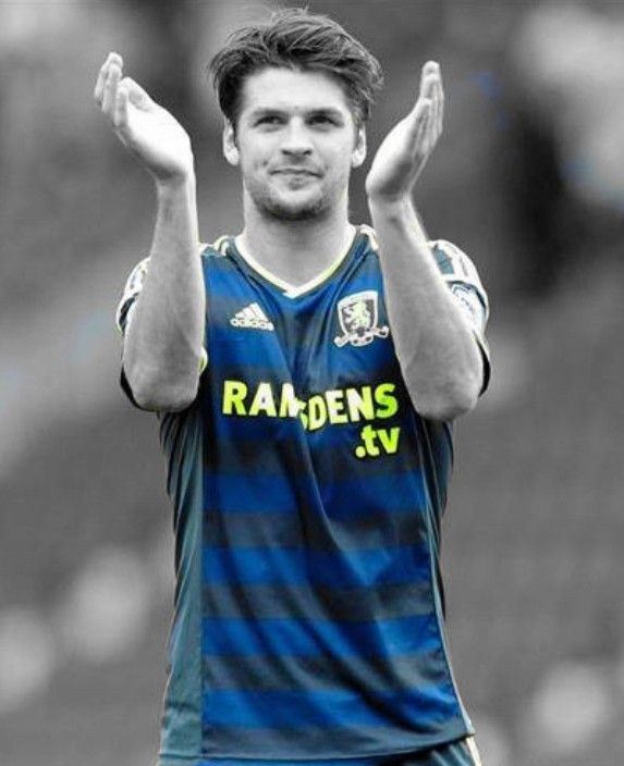George Friend applauding Boro's fantastic away support