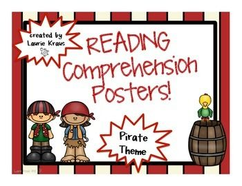 Pirate Theme Reading Comprehension Posters