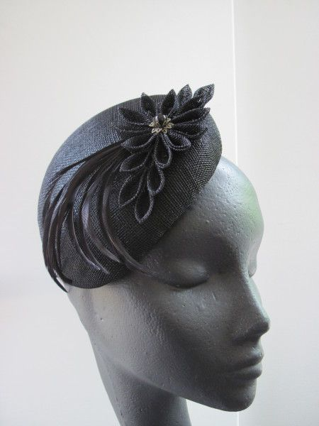 Black Vintage Style Cocktail Hat by MIND YOUR BONCE #millinery #hats #HatAcademy