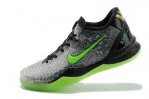 outlet store fadab 51fcf Men s Nike Kobe 8 System SS Christmas XMAS Black Electric Green Grey boys  Basketball Shoes