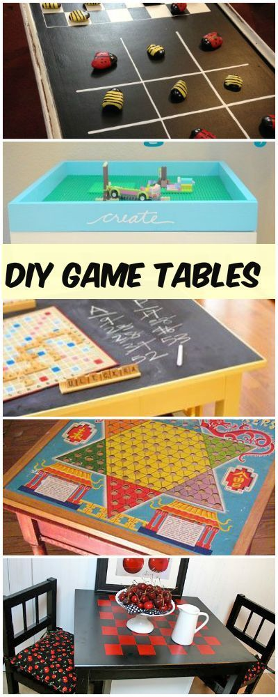 DIY Game Tables • Tutorials and ideas!
