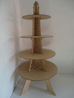 Base Cupcakes Torre Eiffel Muffins Panques Centro Mesa Mdf - $ 290.00