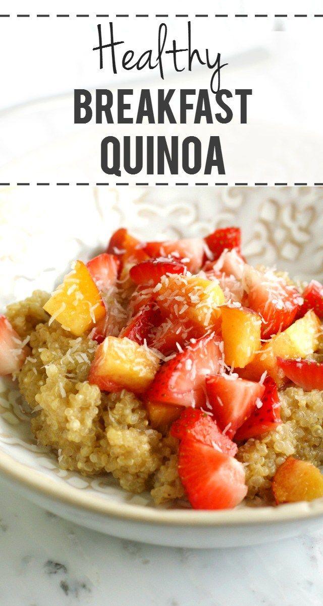 Creamy Breakfast Quinoa with Peaches and Berries | Recipe | Dairy ...