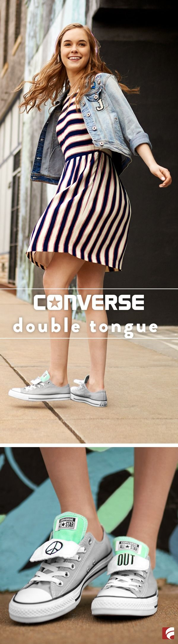 Let's be honest…you've never been that good at blending in. And we love it. Stand out, be bold and #stepforward every day in the Converse Double Tongue.