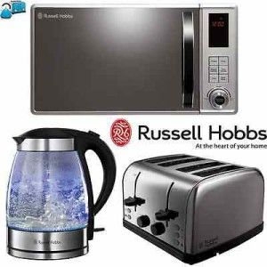 10 best colourful russell hobbs microwave kettle for Kitchen set kettle toaster microwave