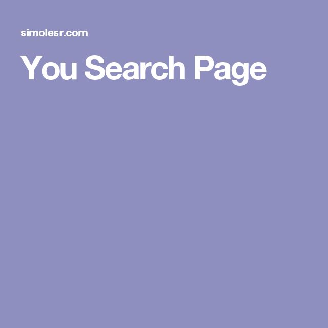 You Search Page