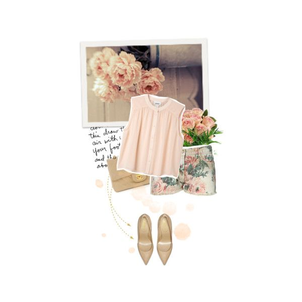 """""""floral shorts"""" by letterelle on Polyvore: Floral Shorts, Letterell, Polyvore"""