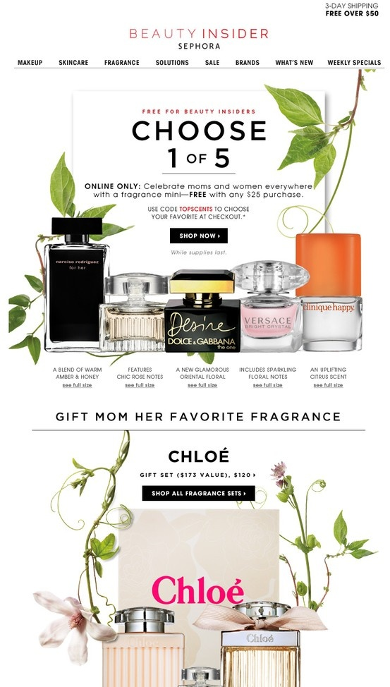 like the mix of product and touches of organic.   email blast inspiration   Pinterest   Sephora ...