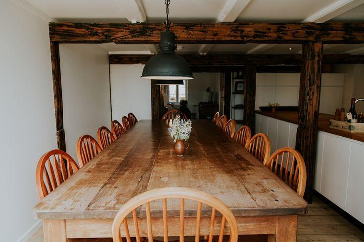 Breakfast table at Andelen Guesthouse, ærø