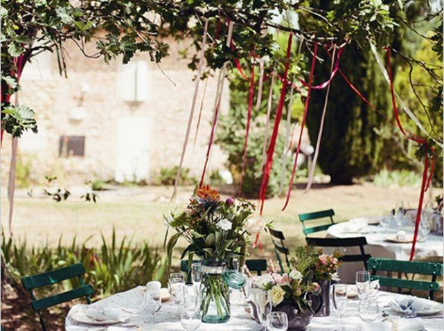 decoation arbre jardin mariage mariage id es wedding ideas pinterest mariage d co et fils. Black Bedroom Furniture Sets. Home Design Ideas