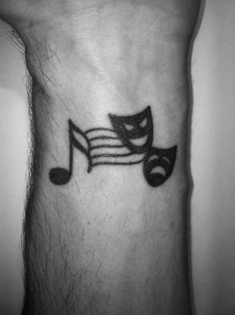 Music/Theatre tattoo on my wrist