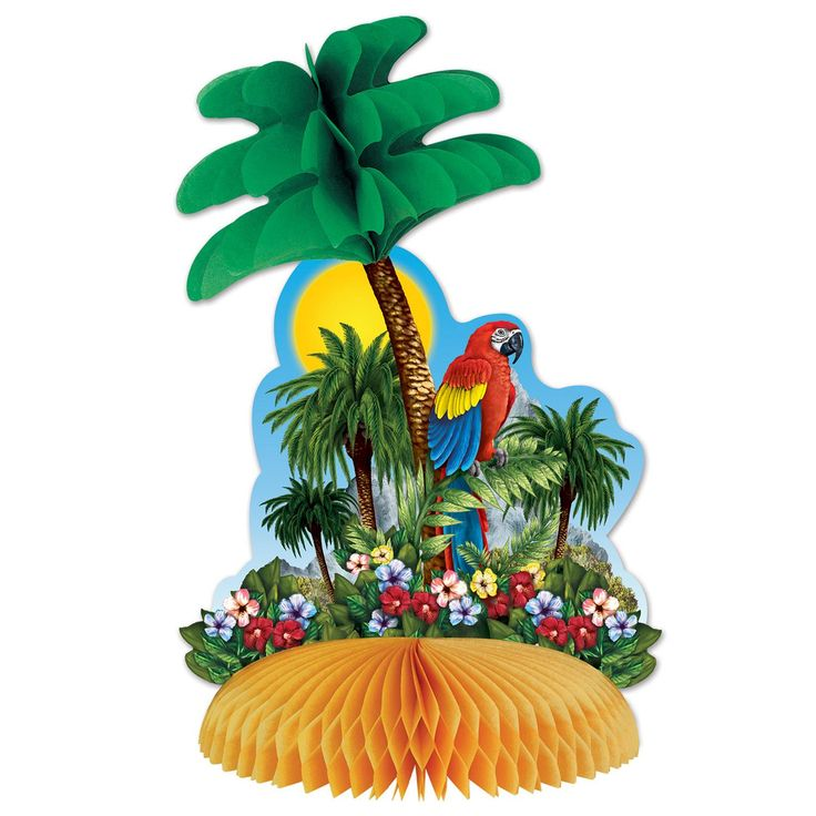 Add the finishing touches with our Tropical Island Table Centrepiece. Measures 30cm