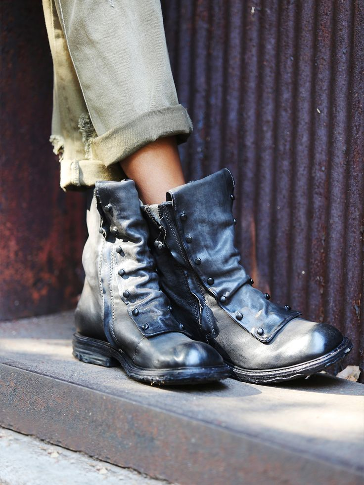 Jaq Boot | An edgy take on the work boot, these Italian leather ankle boots feature dual side zips for versatile styling and hardware detailing. *By A.S.98 *A.S.98 creates inspired, dynamic bags and footwear, handmade with a focus on details and craftsmanship. This is a collection for the confident and authentic, the lovers and dreamers, the woman creating her own paths and living by her own rules. A global style influencer, A.S.98 allows for individual expression, and recognizes there is…
