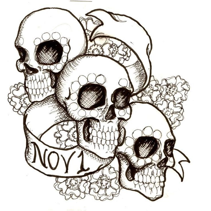 17 Best images about Sugar Skulls Coloring Pages on