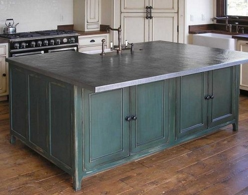 17 best images about zinc countertops on pinterest for Zinc kitchen countertop