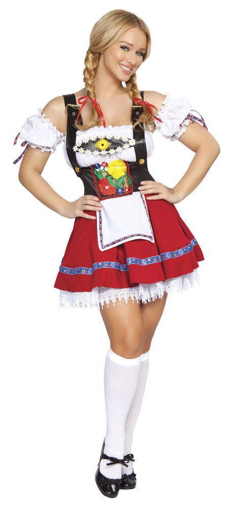 German Beer Girl Costume Fraulein Sweetheart Costume October Fest Roma 4201 #Roma #Dress