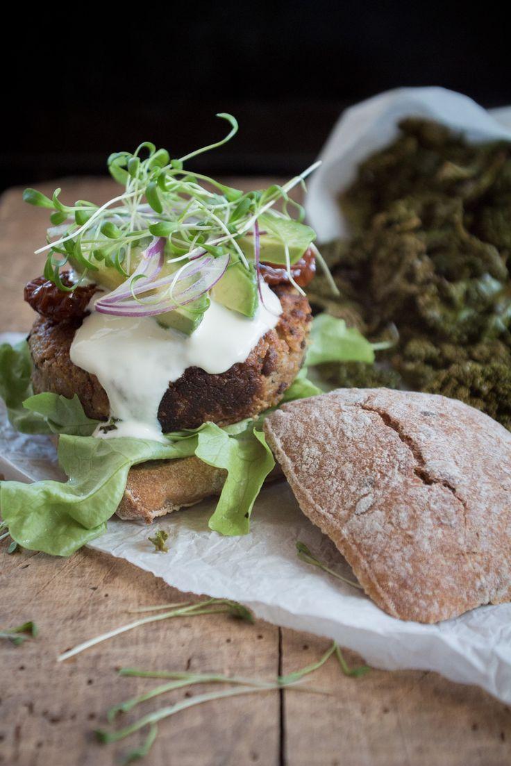 Ein schönes saisonals Herbst Rezept: vegetarische Maroni und Ricotta Burger, einfach zuzubereiten