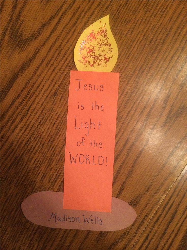 Jesus is the Light of the World / This Little Light of Mine Children's Church Craft