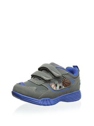 53% OFF Carter's Kid's Hook-and-Loop Strap Sneaker (Grey/Blue)