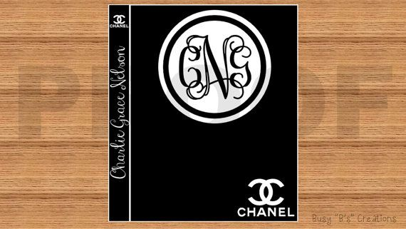 Chanel Book Cover Printable : Chanel inspired binder cover and spine insert printable