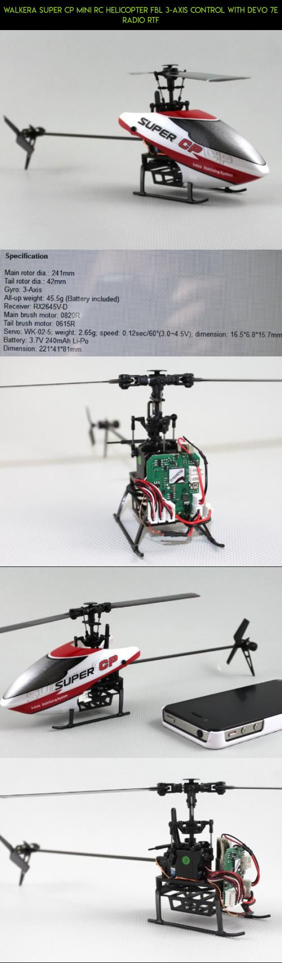 Walkera Super CP mini Rc Helicopter FBL 3-axis Control with DEVO 7E radio RTF #gadgets #walkera #kit #technology #fpv #racing #7e #products #parts #plans #drone #tech #camera #shopping