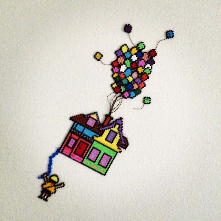 Hamabeads House from UP.