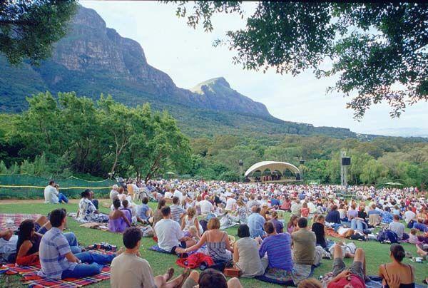 Open air concert at Kirstenbosch National Botanical Garden