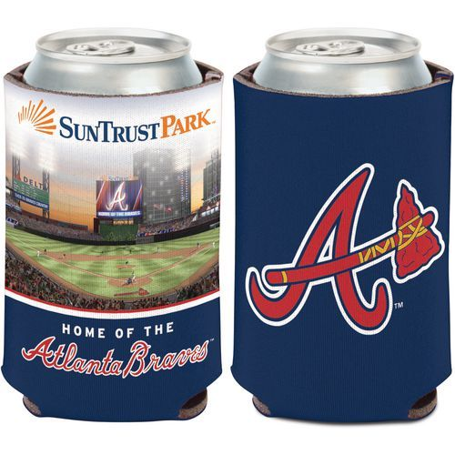 WinCraft Atlanta Braves SunTrust Park 12 oz Can Cooler (Navy, Size ) - Pro Licensed Product, Pro Licensed Novelty at Academy Sports