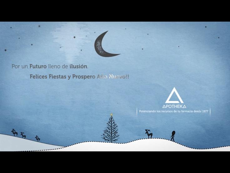 Felices Fiestas y Próspero Año Nuevo. Esperamos que llegue un nuevo año lleno de nuevos proyectos e ilusiones para todos.   Gracias por confiar en la experiencia de APOTHEKA.  Visite el siguiente enlace para ver el video: http://youtu.be/5HtlAAtS7PQ