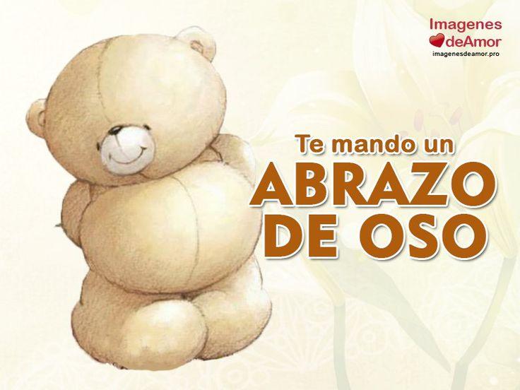 Imágenes de amor con abrazos de oso y frases bonitas
