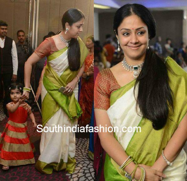 jyothika_in_kanjeevaram_saree_at_srprabhu_wedding_reception