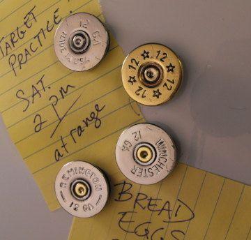 Magnets Shotgun Shell Magnets set of 4 assortment