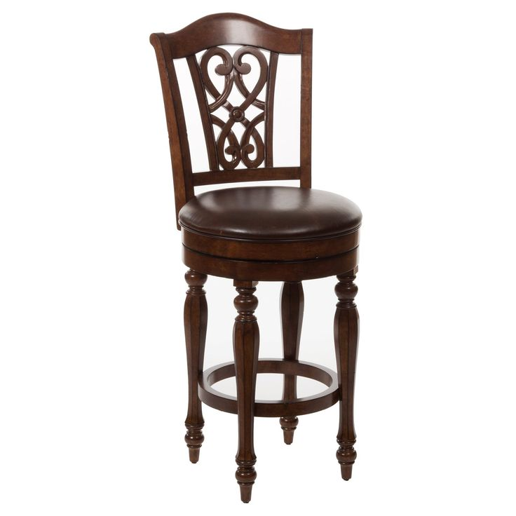 best hillsdale hamilton park scroll back swivel counter stool dark brown bar stools at hayneedle. Black Bedroom Furniture Sets. Home Design Ideas