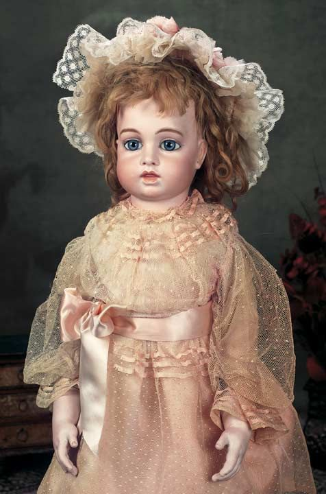 Rare Large French Bisque Bebe,Circle Dot Model,by Leon Casimir Bru,Size 10