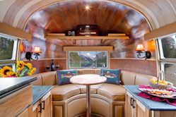 Interior of AirstreamThe Roads, Trailers Interiors, Mobiles Home, Vintage Airstream, Fly Fish, Airstream Interiors, Caravan Interiors, Travel Trailers, Airstream Trailers