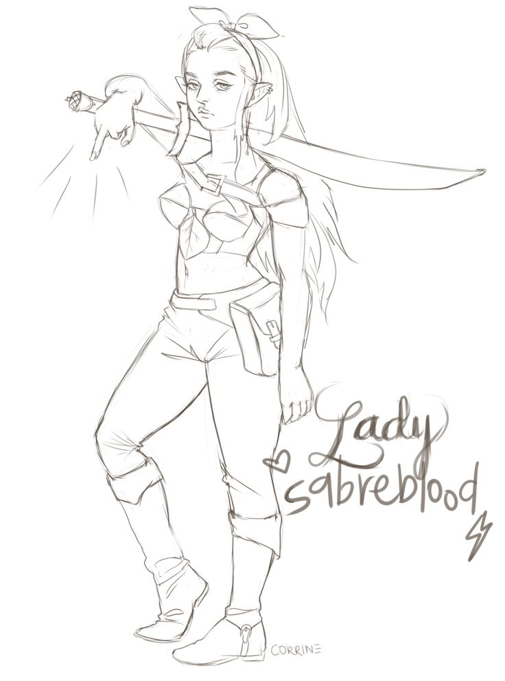 "c0rr1ne: "" Did a sketch of Lady Sabreblood from episodes 9 & 27 of Fantasy Fiction! Love her attitude. Guess I gotta draw Muscles Bear one day, too. fantasyficpod "" Love it! She needs to make a return soon. -Dom"