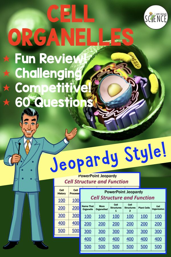 Cell Organelles - Jeopardy-Style Review Games   Review ...