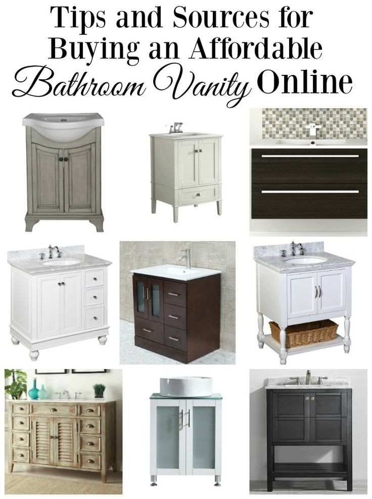 Tips And Sources For Ing A Bathroom Vanity Online
