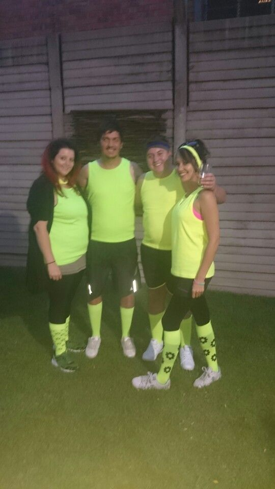 Werks funksie 1980's gym cloths  Neon green and yellow