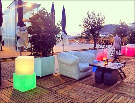Blofield Air Design @ LA VIBLIA TERRAZA, wine restaurant & showroom, Barcelona (Spain).