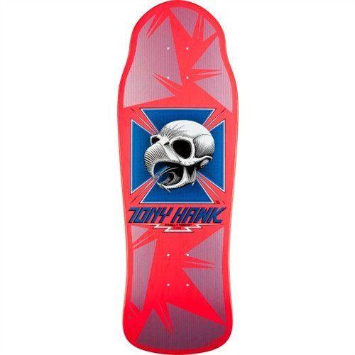 Powell Peralta Tony Hawk Skull Pink Skateboard Deck