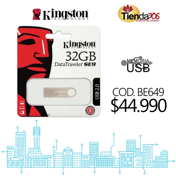 Memoria USB Kingston 32GB Datatraveler SE9