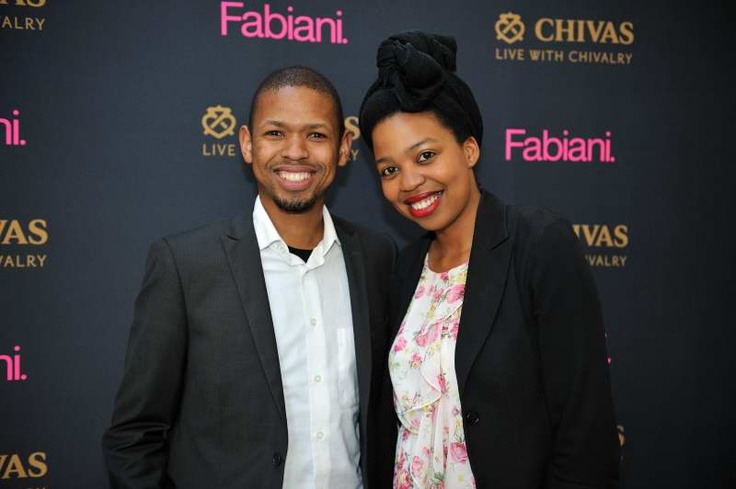 Our guests Sbu Situma and Sibongile Mafu.    At the Fabiani Grand Hotel Launch the Waterfront store was transformed into a scene from a European resort hotel, complete with faux grass, hotel and travel themed decor, and even a putting green. VIP guests enjoyed fine Chivas whisky, high tea treats, with the entertaining modern jazz sounds of Rus Nerwich and the Collective Imagination.