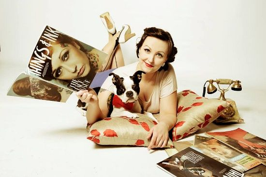 Pin up girls and Boston Terrier pups! What's not to love?