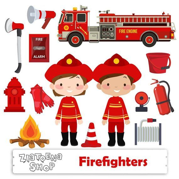 Little Firefighter Clip Art Fireman Clipart Firefighter Graphics