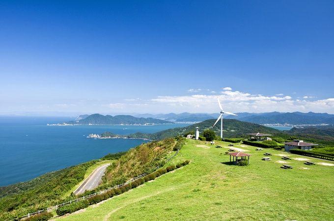 山口県の日本海を望む大広間『千畳敷』